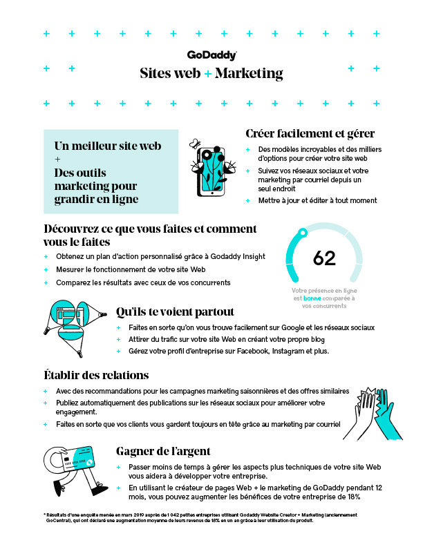 Infographie: Sites web + Marketing
