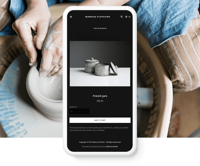 GoDaddy Online Store Mobile
