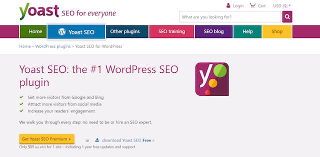 Yoast SEO homepage: credits yoast.com