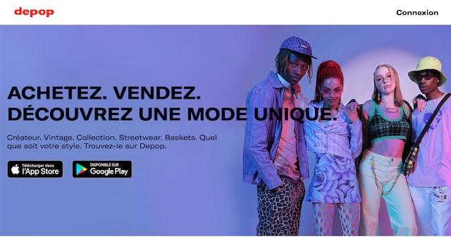 site pour vendre des vêtements: Depop