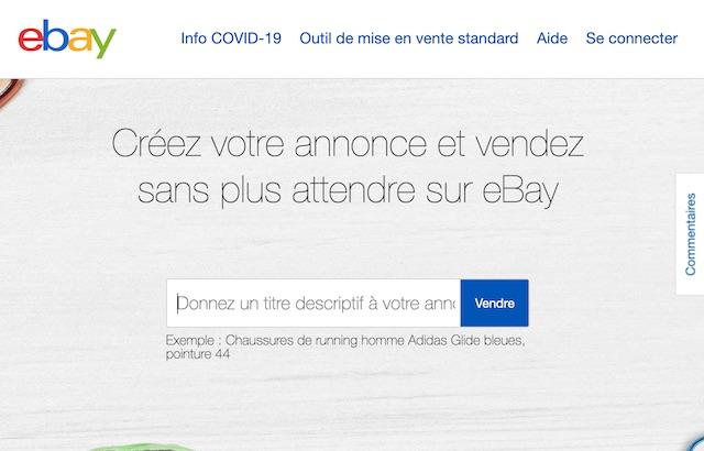 site pour vendre des vêtements: ebay