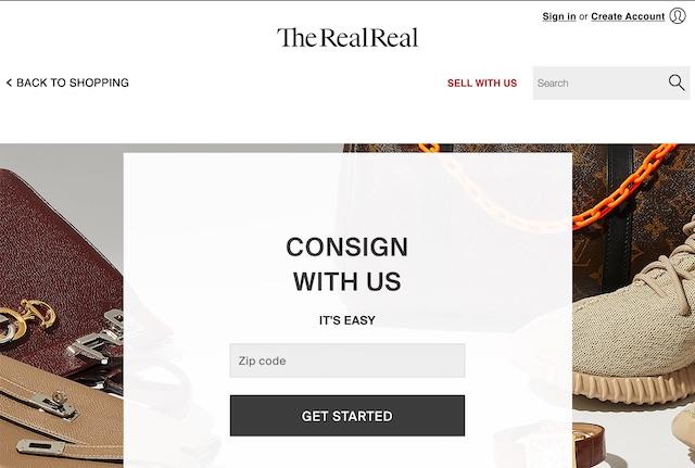 site pour vendre des vêtements: The RealReal