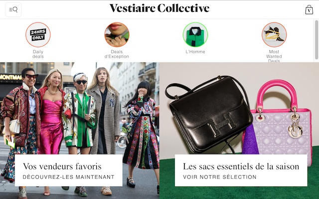 site pour vendre des vêtements: Vestiaire Collective